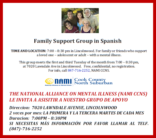 NAMI CCNS Spanish Support group