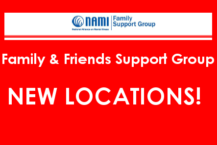 2015 NAMI CCNS Family and Friends Support Group - New Locations!