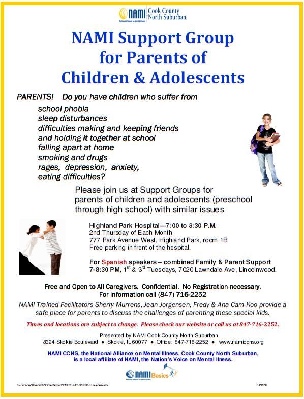 2015 NAMI CCNS Parents Of Children & Adolescents Support Group Nov Revised