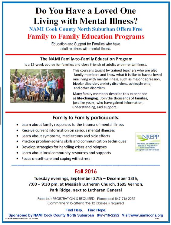 2016 NAMI CCNS Family to Family Fall
