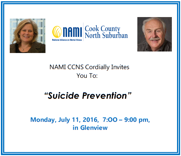2016 NAMI CCNS - Public Education Meeting - Suicide Prevention - July, 11