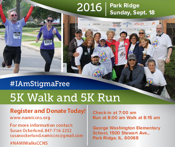 Click here to REGISTER NOW for 2016 NAMI CCNS 5K Walk and 5K Run