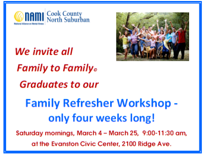 2017 NAMI CCNS Spring Family to Family Refresher Workshop