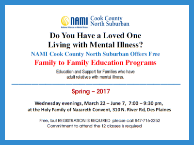 2017 NAMI CCNS Spring Family to Family