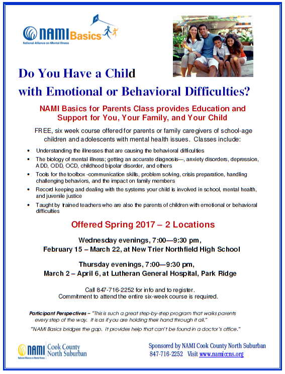 2017 NAMI CCNS Spring Class - Basics for Parents
