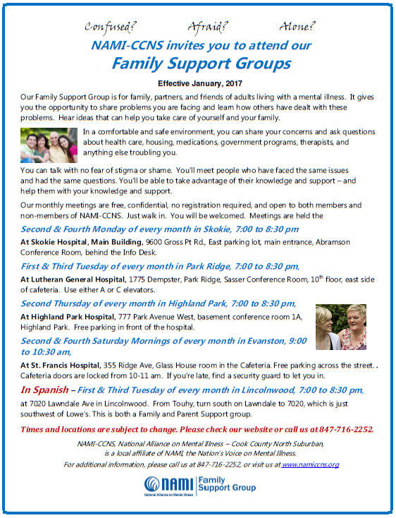 NAMI CCNS Family Support Groups