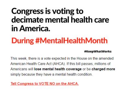 2017 NAMI CCNS advocacy #mentalhealthmonth #AHCA